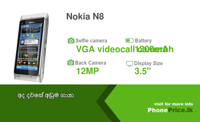 Nokia N8 Price in Sri Lanka August, 2019