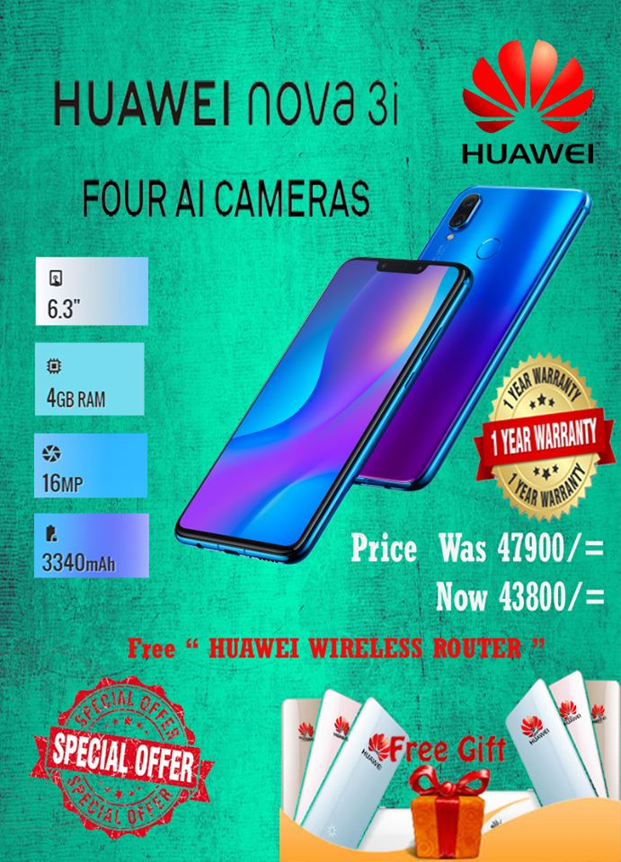 Dialcom Huawei nova 3i  SEASONAL OFFER..  Free