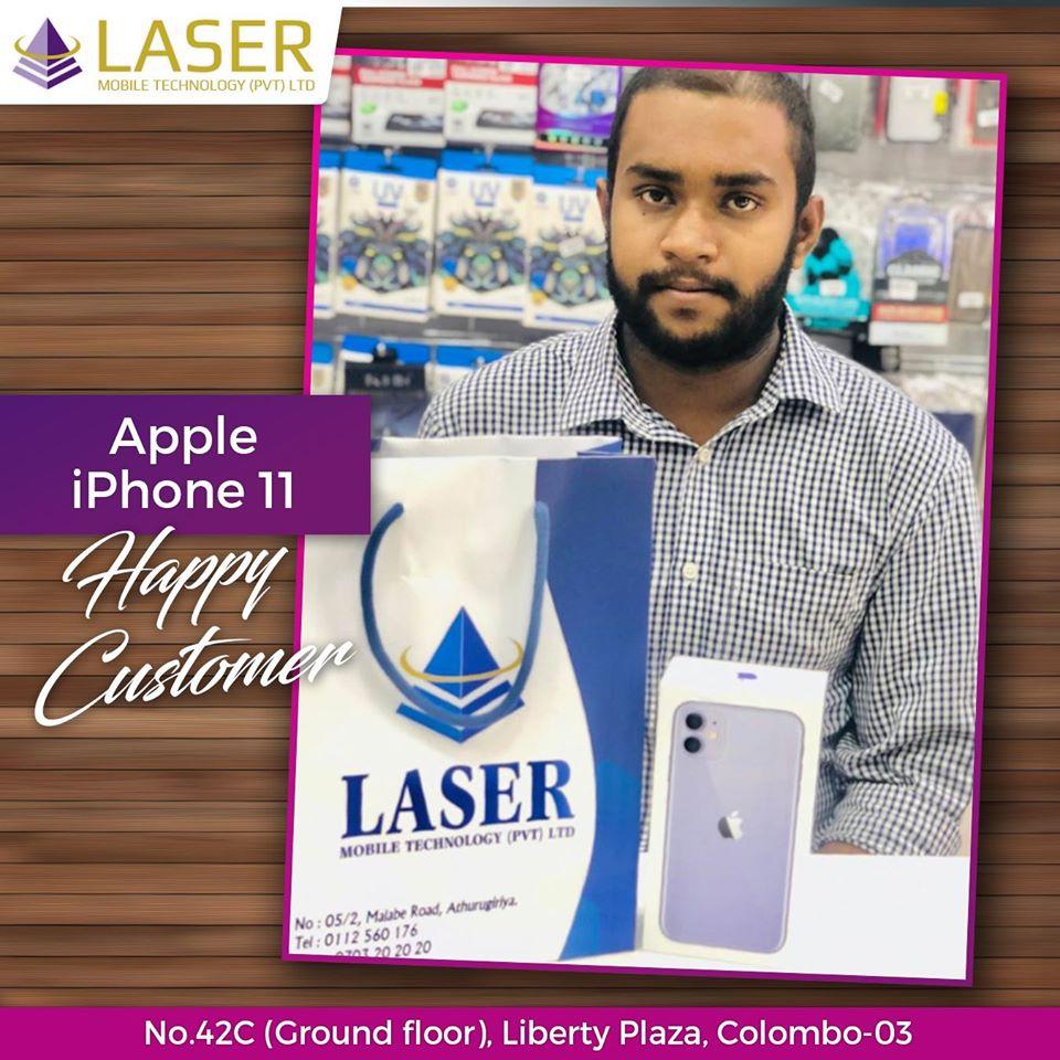 Laser Mobile Apple iPhone 11 Happy Customer????ජංගම දුරකථන නිවසටම ගෙන්වා ගැනීම සඳහා අප අමතන්න(කොළඹ සහ අවට ප්රදේශ වල පමණක් සේවාව ක්රියාත්මක වේ.)????Laser Mobile Technology Pvt Ltdවෙත පැමිණ ඔබේ ජංගම දුරකථන සහ උපාංග විශ්වාසදායිව, වගකීමක් සහිතව මිලදීගන්න.????Credit card පත් මගින් පහසු ගෙවීම් ක්රම යටතේ මිලදීගත හැක.????දුරකථන මිල ගණන් ඉක්මනින් දැනගැනීමට අපගේ අංකයට ඇමතීමක් හෝ Facebook Page / Instagram account එකට පණිවිඩයක් යොමු කරන්න.????දුරකථන සඳහා විශේෂ වට්ටම් සහ තෑගි පිලිබඳ දැන්වීම් තොරතුරු නිතර දැනගැනීමට අපගේ Facebook page එකට Like කර Follow කරන්න.????ජංගම දුරකථන සහ උපාංග මිලදීගැනීමට, අළුත්වැඩියා කරගැනීම සඳහා ඔබත් පැමිණෙන්න.Laser Mobile Technology Pvt Ltdලිබර්ටි ප්ලාසා / අතුරුගිරිය????ක්ෂණික ඇමතුම් -077784499807031010100703202020