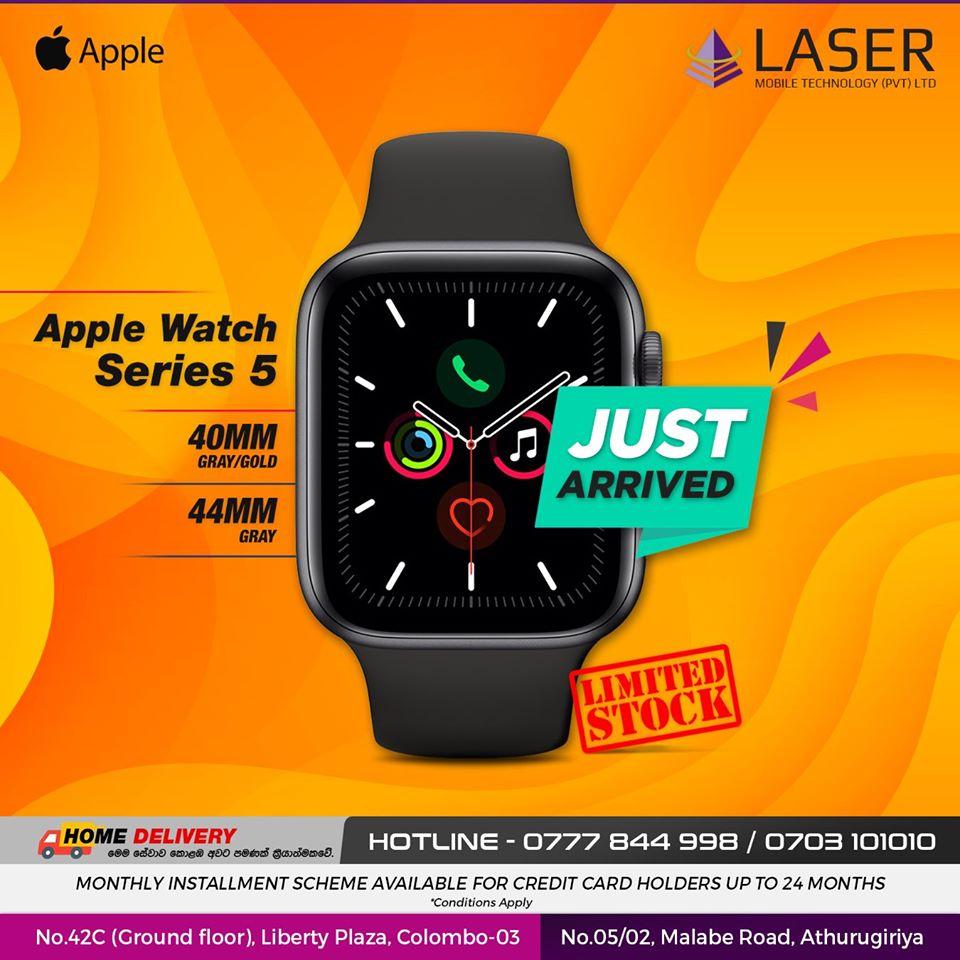 Laser Mobile Apple Watch Series 5 NEW STOCK Just Arrived!!!40MM/44MM????ජංගම දුරකථන නිවසටම ගෙන්වා ගැනීම සඳහා අප අමතන්න(කොළඹ සහ අවට ප්රදේශ වල පමණක් සේවාව ක්රියාත්මක වේ.)????Laser Mobile Technology Pvt Ltdවෙත පැමිණ ඔබේ ජංගම දුරකථන සහ උපාංග විශ්වාසදායිව, වගකීමක් සහිතව මිලදීගන්න.????Credit card පත් මගින් පහසු ගෙවීම් ක්රම යටතේ මිලදීගත හැක.????දුරකථන මිල ගණන් ඉක්මනින් දැනගැනීමට අපගේ අංකයට ඇමතීමක් හෝ Facebook Page / Instagram account එකට පණිවිඩයක් යොමු කරන්න.????දුරකථන සඳහා විශේෂ වට්ටම් සහ තෑගි පිලිබඳ දැන්වීම් තොරතුරු නිතර දැනගැනීමට අපගේ Facebook page එකට Like කර Follow කරන්න.????ජංගම දුරකථන සහ උපාංග මිලදීගැනීමට, අළුත්වැඩියා කරගැනීම සඳහා ඔබත් පැමිණෙන්න.Laser Mobile Technology Pvt Ltdලිබර්ටි ප්ලාසා / අතුරුගිරිය????ක්ෂණික ඇමතුම් -077784499807031010100703202020